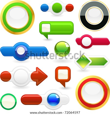 Vector button set. Great collection.