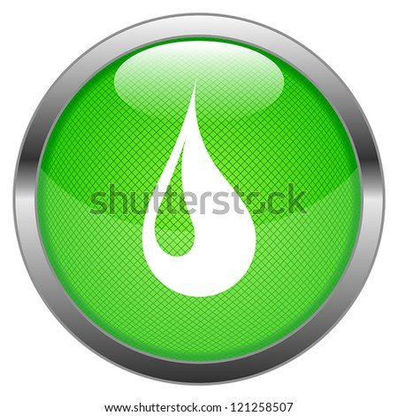 Vector Button Water Drop