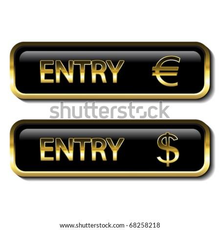 Vector button with financial activity - stock vector