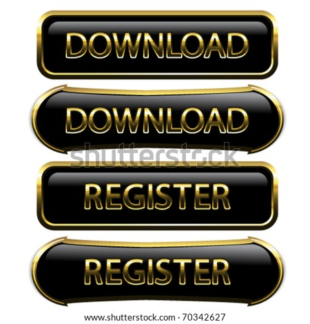 Vector buttons - download, register