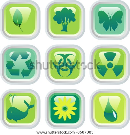 vector buttons for environmental protection