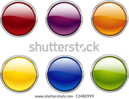 Vector buttons illustration