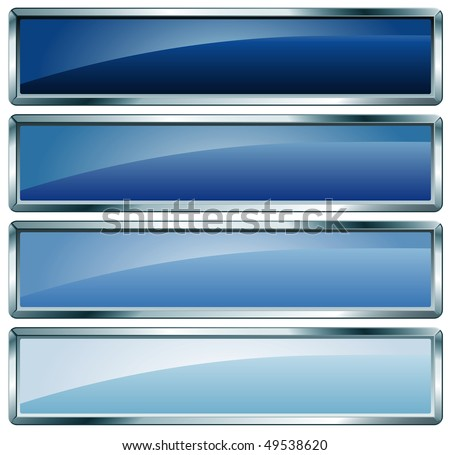 vector buttons in blue colors