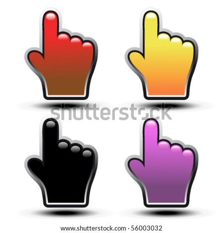 Vector buttons of hand