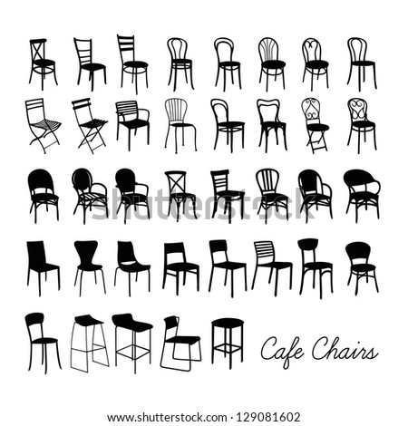 vector cafe chair collection ...