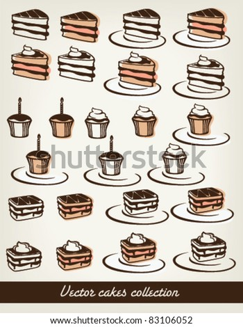 vector cakes collection