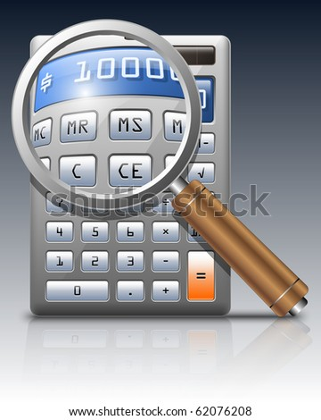 Vector calculator and magnifying glass