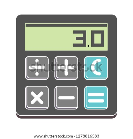 vector calculator icon-math vector-accounting symbol-finance illustration-keyboard sign