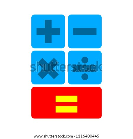 vector Calculator illustration isolated - mathematics symbol, office icon