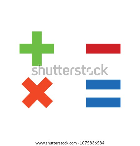 vector Calculator symbol - mathematics illustration sign isolated