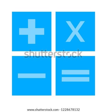 vector Calculator symbol - mathematics illustration sign isolated, Calculator icon