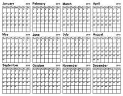 Vector - Calendar 2015