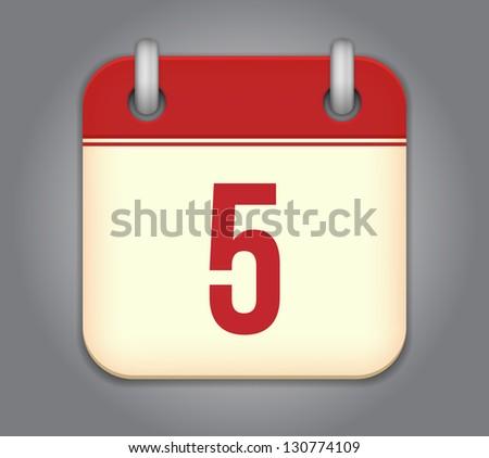 vector calendar app icon