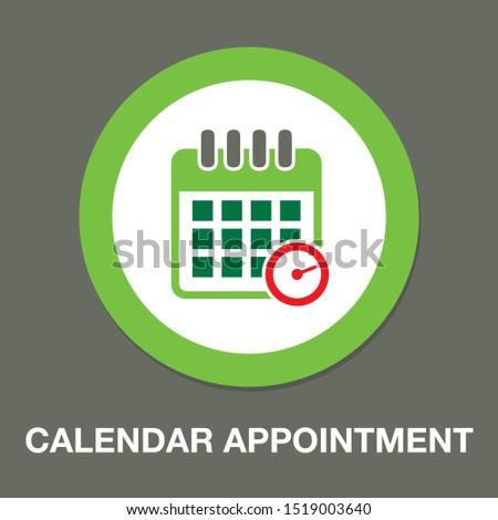 vector calendar - appointment icon - date symbol Foto d'archivio ©