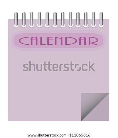 Vector calendar background