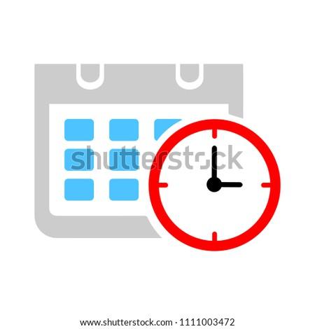 vector calendar events illustration - meeting time reminder sign symbol