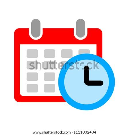 vector calendar events illustration - schedule meeting time reminder sign symbol