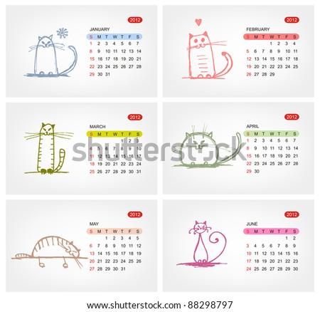 vector calendar 2012  july