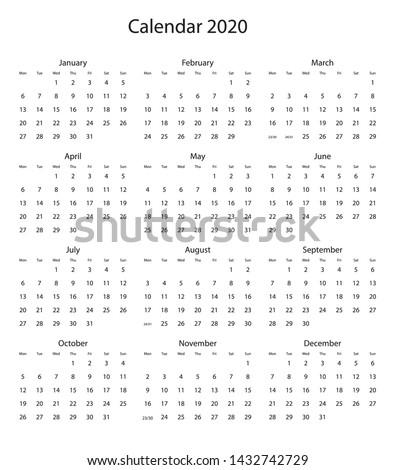 vector calendar 2020 new design