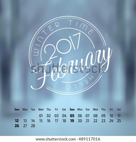 vector calendar on abstract