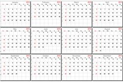 Vector calendar planner schedule 2015 week starts with sunday