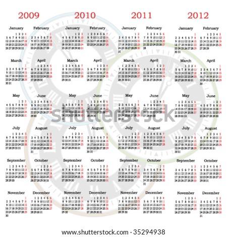 Vector calendar with clock  background - stock vector