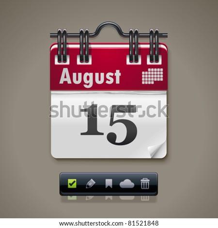 Vector calendar XXL icon Stockfoto ©