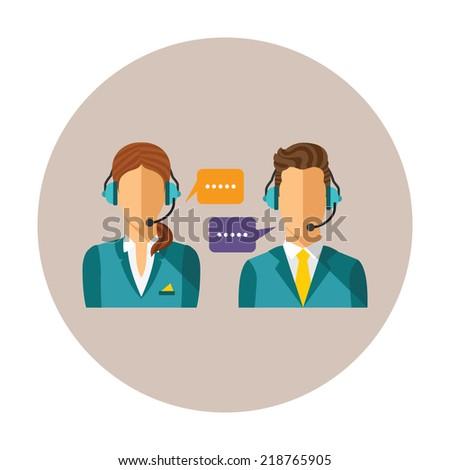 vector call center concept with