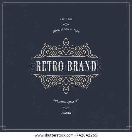 stock-vector-vector-calligraphic-logo-template-luxury-retro-monogram-vintage-design-element