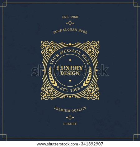 Vector calligraphic logo template. Luxury retro monogram. Vintage monogram.