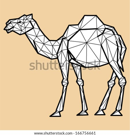 Vector - camel geometric (illustration of a many triangles)