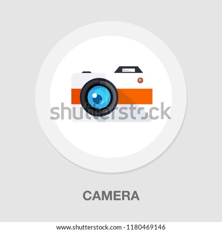 vector Camera icon - digital photography symbol - image illustration