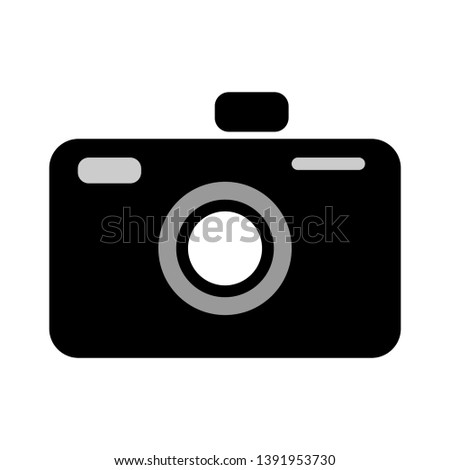 vector Camera icon - digital photography symbol - image illustration