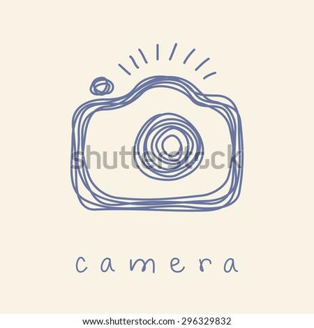 vector camera icon logo design