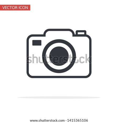 vector camera icon symbol flat style