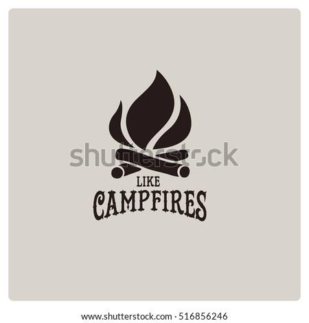 vector campfire vintage logos...