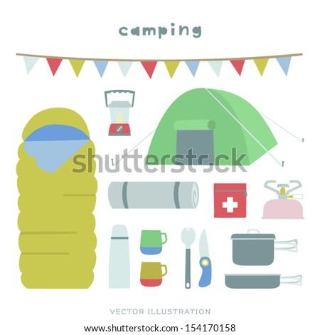 Vector Camping Illustration