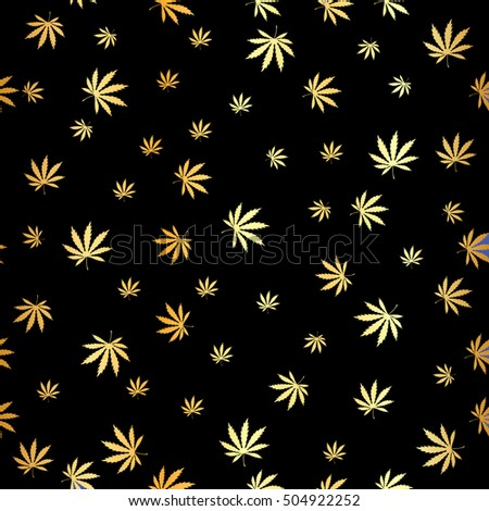 vector cannabis gold leaf
