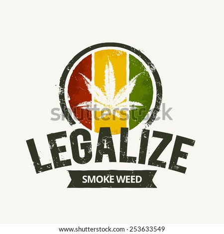 vector cannabis grunge emblem
