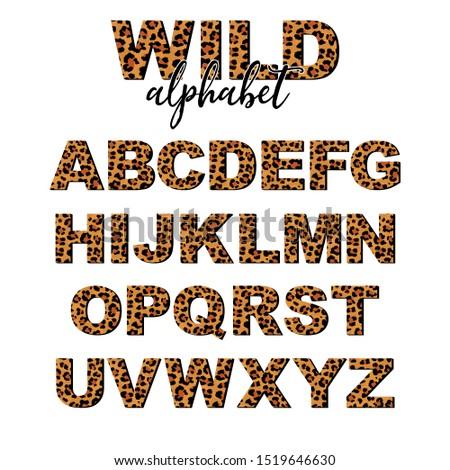 vector capital letter alphabet