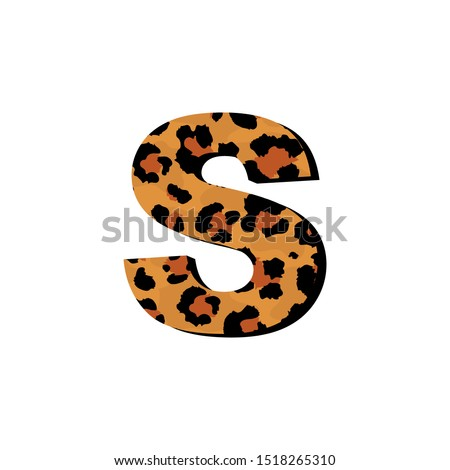 vector capital letter s with