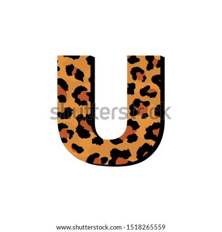 vector capital letter u with