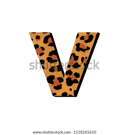 vector capital letter v with
