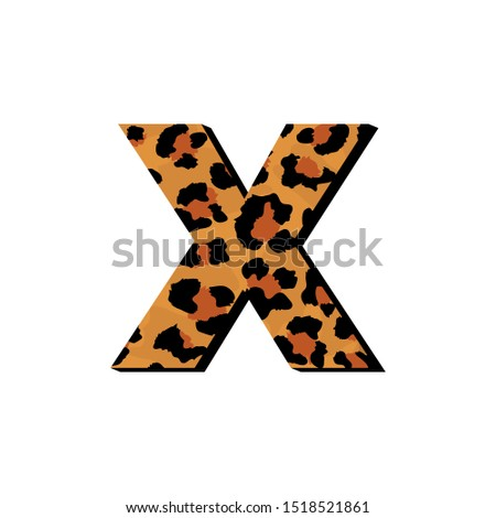vector capital letter x with