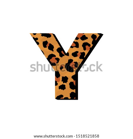 vector capital letter y with