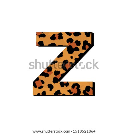 vector capital letter z with