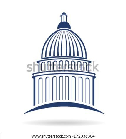 Vector Capitol building icon