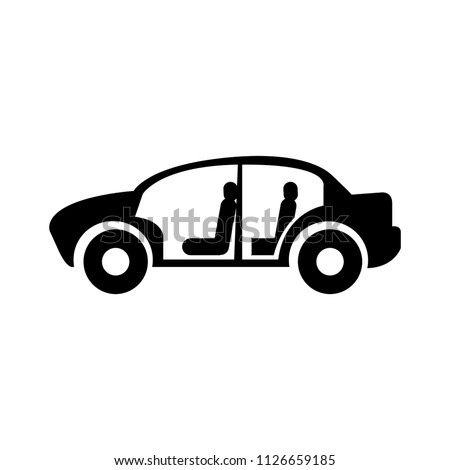 vector car body illustration isolated -  automotive and transport sign symbol, vehicle factory