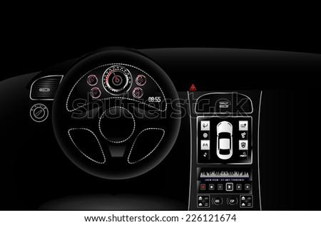 vector car dashboard