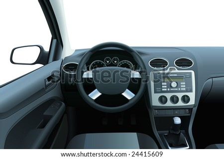 vector car dashboard and
